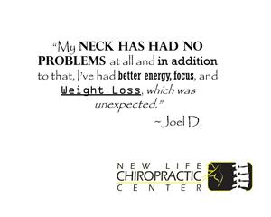 Chiropractic Fort Wayne IN Patient Testimonial at New Life Chiropractic