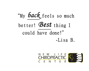 Chiropractic Fort Wayne IN Patient Testimonial at New Life Chiropractic